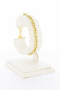 18 Karaat gouden Fantasie Valkoog armband - 18,5 cm