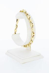 18 Karaat geel gouden Koffieboon schakelarmband - 21 cm