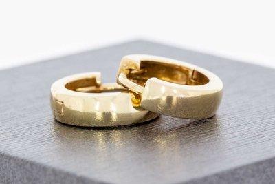 14 Karaat geel gouden Creolen (diameter 12,3 mm)