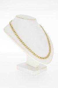14 Karaat gouden geslepen Gourmet schakelketting-50 cm
