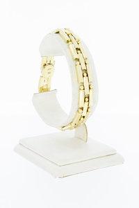 14 Karaat geel gouden Kegel schakel armband - 18,8 cm