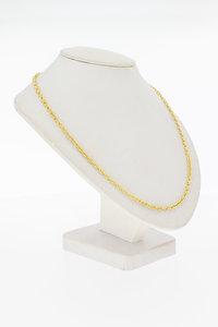 14 Karaat bewerkte gouden Anker schakelketting - 71 cm