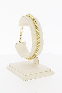 14 Karaat geel gouden Popcorn schakelarmband - 20 cm