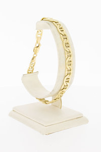 14 Karaat geel gouden Anker Schakelarmband - 22 cm