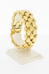 18 Karaat gouden Koffieboon schakelarmband - 19,7 cm