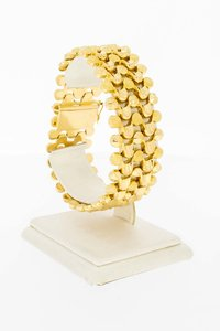 18 Karaat gouden brede gefigureerde armband - 19,3 cm