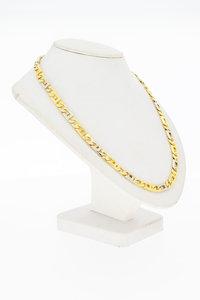 18 Karaat bicolor gouden Rolex Koningsketting - 49,7 cm