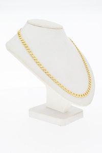 14 Karaat gouden Open Gourmet schakelketting - 60,3 cm