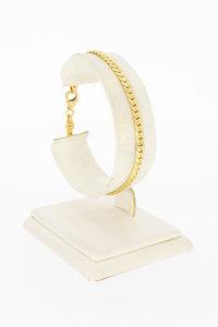 14 Karaat gouden gewalste Gourmet armband - 18,8 cm