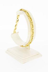 18 Karaat geel gouden Valkoog schakelarmband - 21,5 cm