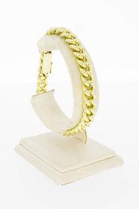 14 Karaat geel gouden Gourmet schakelarmband - 20,3 cm