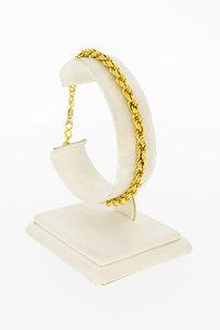 18 Karaat geel gouden Koord schakelarmband - 19,8 cm