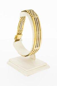 18 Karaat bicolor gouden Staafjes armband - 21,5 cm