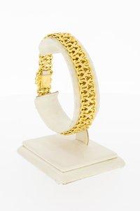 18 Karaat gouden gevlochten schakelarmband - 19,2 cm