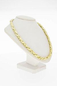 14 Karaat gouden Fantasie Vossenstaart collier - 46,5 cm