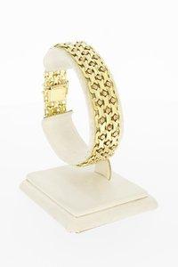 14 Karaat geel gouden gevlochten schakelarmband-18,8 cm