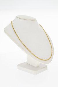14 Karaat gouden geslepen Gourmet ketting - 72,5 cm