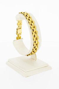 18 Karaat geel gouden Tank schakelarmband - 20 cm