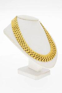 14 Karaat geel gouden Matjes schakel Collier - 42,8 cm