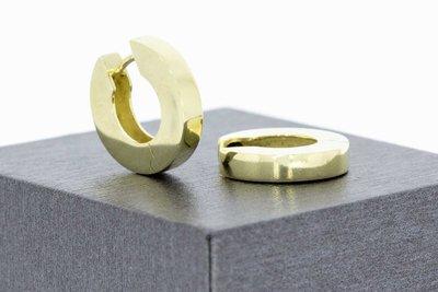 14 Karaat geel gouden Klap Creolen (diameter 16 mm)