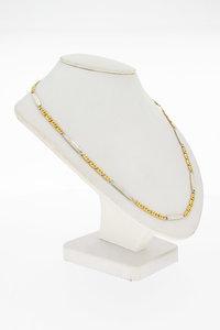 14 Karaat gouden Valkoog  Plaatjes ketting - 62,2 cm