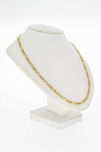 14 Karaat geel gouden Figaro schakelketting - 51,7 cm