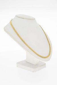 14 Karaat geel gouden Matjes schakel Collier - 43 cm