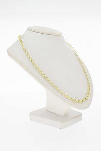 14 Karaat geel gouden Jasseron schakel Collier - 46 cm
