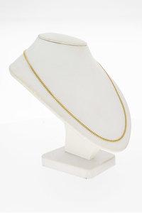 14 Karaat geel gouden Gourmet schakelketting - 72,7 cm