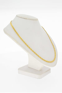 18 Karaat geel gouden Valkoog schakelketting - 60,2 cm