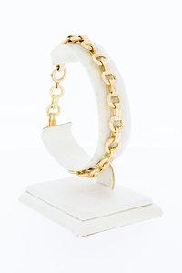 14 Karaat gouden fantasie Anker schakelarmband - 21,2 cm