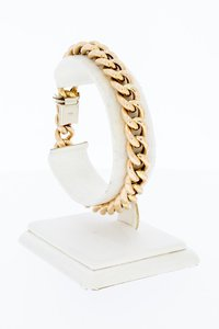 14 Karaat roze gouden Open Gourmet armband - 20 cm