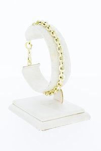 14 Karaat geel gouden Anker schakel armband - 19,7 cm