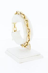 14 Karaat geel gouden Anker schakelarmband - 20 cm