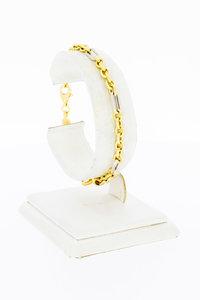 18 Karaat gouden fantasie Anker schakel armband - 18,8 cm