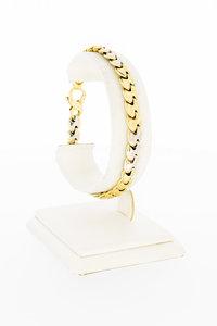 18 karaat bicolor gouden bolle Gourmet schakelarmband - 20 cm