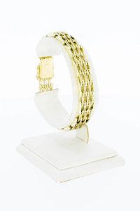14 Karaat geel gouden Staafjes schakelarmband - 19,0 cm