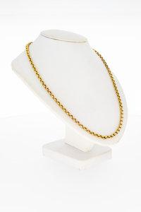 14 Karaat geel gouden Jasseron schakel Collier - 46,4 cm