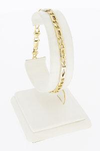 14 Karaat bicolor gouden Rolex schakelarmband - 20,4 cm