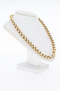 14 Karaat geel gouden Jasseron schakel Collier - 47 cm