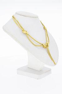 14 Karaat geel gouden dubbele Knoop Collier - 42 cm