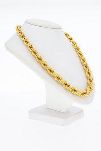 18 Karaat geel gouden oplopende Koord ketting - 51 cm