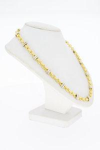 18 Karaat bicolor gouden Fantasie Anker ketting - 81,5 cm