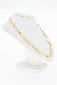 18 Karaat geel gouden Valkoog schakel Collier - 47 cm