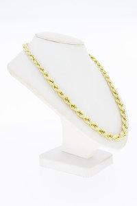 14 Karaat gouden oplopend Koord schakel collier - 47,6 cm