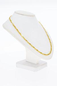 14 Karaat geel gouden Valkoog schakel Collier- 45,2 cm
