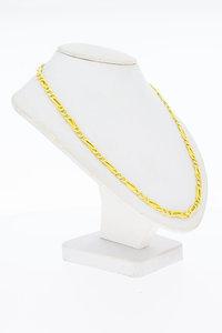 18 Karaat geel gouden Valkoog schakel Collier - 44 cm