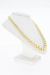 14 Karaat gouden oplopend fantasie Jasseron Collier-47 cm
