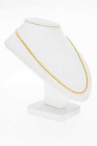 14 Karaat geslepen gouden Gourmet Collier - 45,5 cm