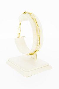 14 Karaat gouden Closed Forever schakelarmband - 20,0 cm